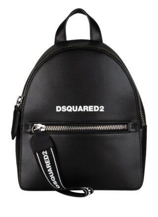 DSQUARED2 Rucksack Leder, Schwarz