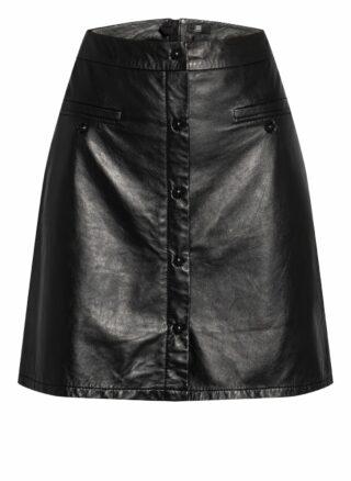 Riani Lederrock mit Reißverschluss, Schwarz