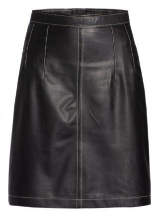 SET Lederrock mit Reißverschluss, Schwarz