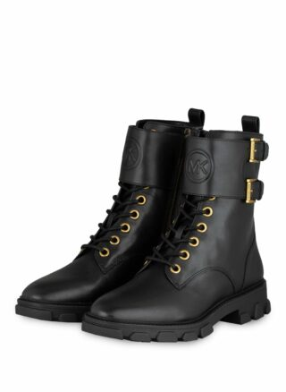 Michael Kors Ridley Ankle Biker Boots, Schwarz
