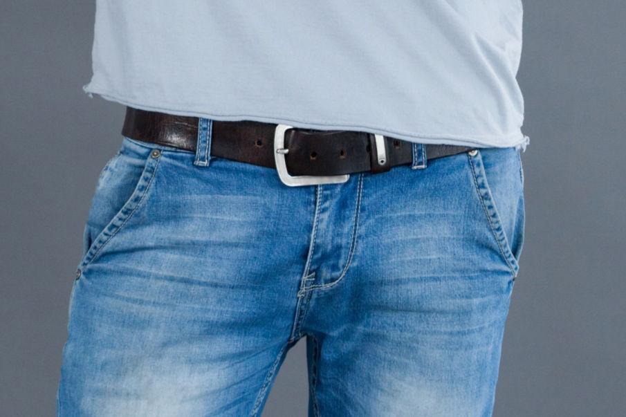 Lederguertel Herren Jeans, Herrenguertel aus Leder