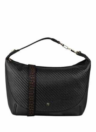Aigner Palermo Large Hobo-Bag, Schwarz