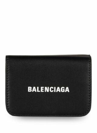Balenciaga Cash Mini Geldbörse, Schwarz