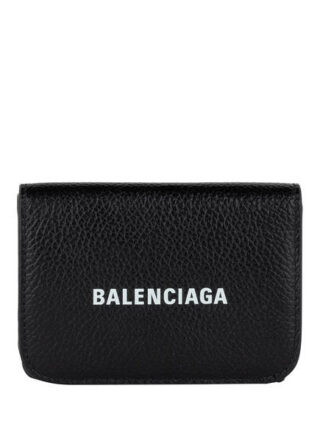 Balenciaga Cash Mini Leder Geldbörse, Schwarz
