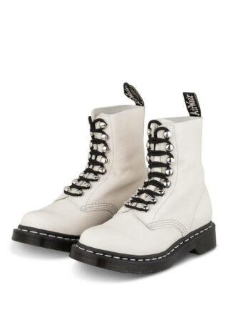 Dr. Martens 1460 Pascal Biker Boots, Weiss
