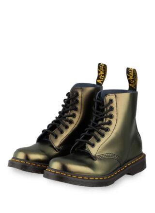 Dr. Martens 1460 Pascal Chroma Biker Boots, Gold