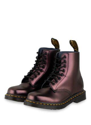 Dr. Martens 1460 Pascal Chroma Biker Boots, Rot
