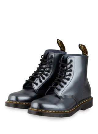 Dr. Martens 1460 Pascal Chroma Biker Boots, Silber