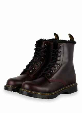 Dr. Martens 1460 Serena Biker Boots, Rot