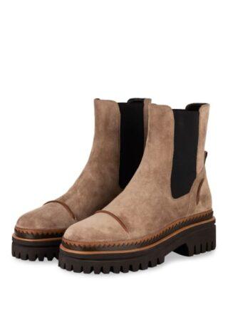 Elvio Zanon Chelsea-Boots, Beige