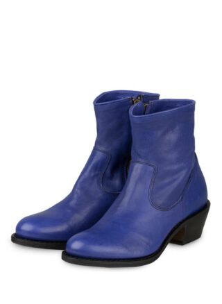 Fiorentini + Baker Royal Rocker Biker Boots, Blau