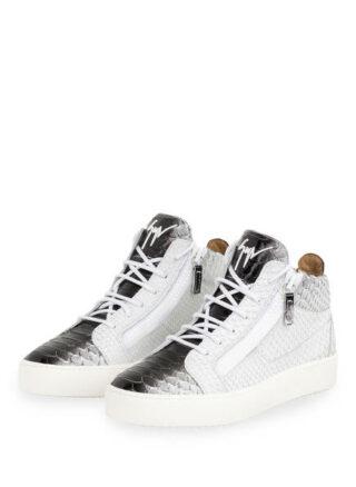 Giuseppe Zanotti Design Python Hightop-Sneaker, Weiss
