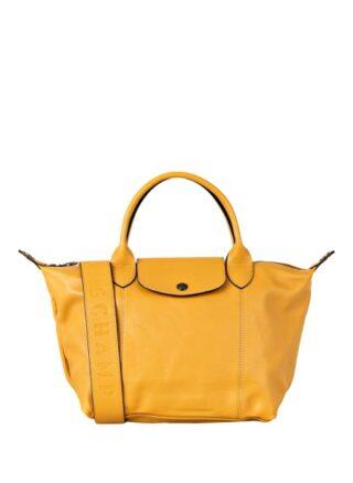 Longchamp Le Pliage Cuir Handtasche, Gelb