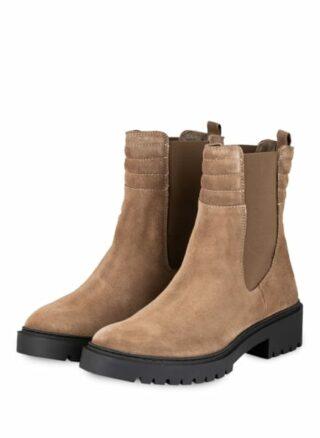 Unisa Greek Chelsea-Boots, Beige