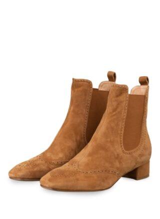Unützer Chelsea-Boots, Braun