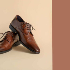Lederschuhe Herren, Businessschuhe aus Leder, Herrenschuhe in Braun