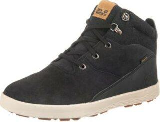 JACK WOLFSKIN Auckland Wt Texapore Mid Sneaker High Herren, Schwarz
