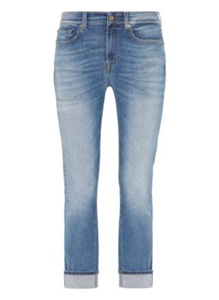 7 For All Mankind Boyfriend Jeans Slim Illusion, Blau