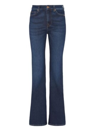 7 For All Mankind Lisha Bootcut Fit Flared Leg Jeans Damen, Blau