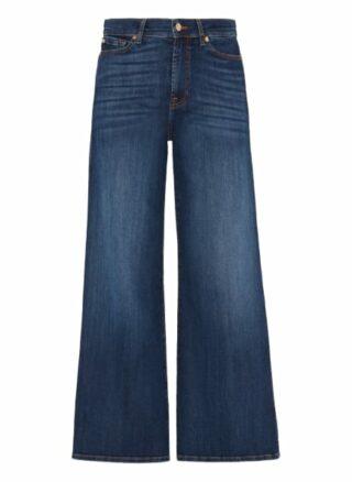 7 For All Mankind Lotta Wideleg Fit Flared Leg Jeans Damen, Blau