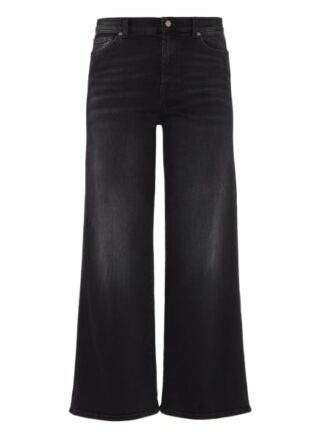 7 For All Mankind Flared Jeans Lotta, Schwarz