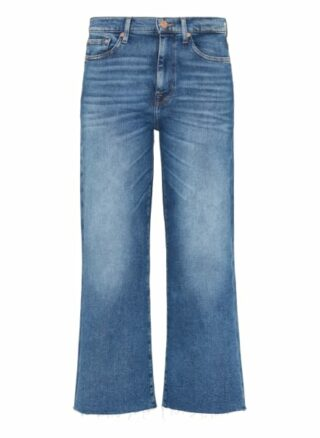 7 For All Mankind Cropped Alexa Flared Fit Flared Leg Jeans Damen, Blau