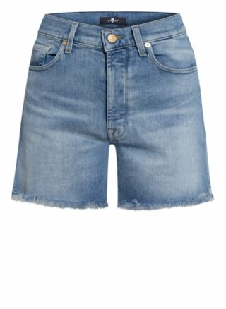 7 For All Mankind Billie Jeans-Shorts Damen, Blau
