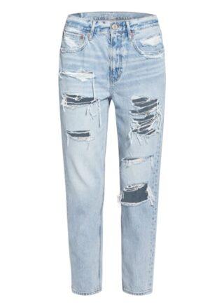 American Eagle Destroyed-Jeans, Blau