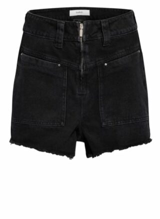 BA&SH David Jeans-Shorts Damen, Schwarz