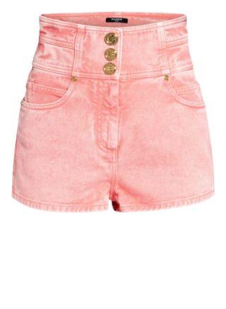 Balmain Jeans-Shorts, Pink