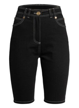 Balmain Jeans-Shorts, Schwarz
