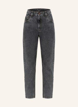 Brunello Cucinelli Boyfriend Jeans, Schwarz