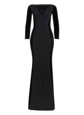 Chiara Boni La Petite Robe Abendkleid mit 3/4-Arm, Schwarz