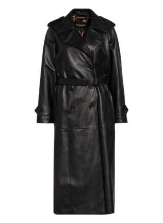 Dolce&Gabbana Trenchcoat aus Leder, Schwarz