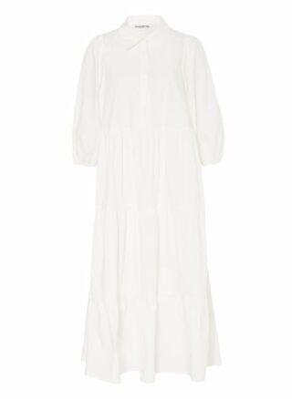 Essentiel Antwerp Kleid mit 3/4-Arm, Weiß