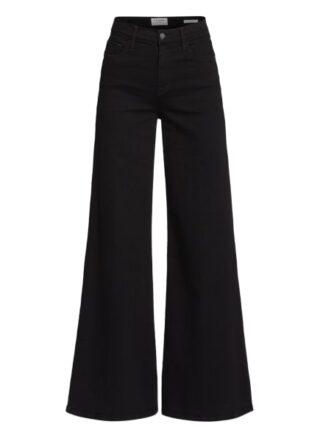 Frame Denim Jeans-Marlenehose Le Palazzo, Schwarz