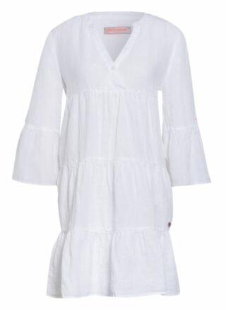 Frieda&Freddies Leinenkleid mit 3/4-Arm, Weiß