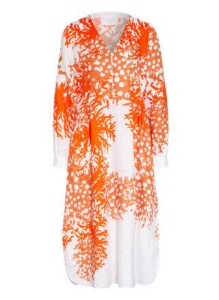 Ivi Collection Leinenkleid, Weiß
