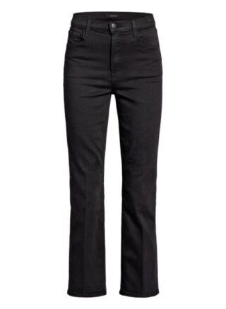 J Brand 7/8-Bootcut Jeans, Schwarz