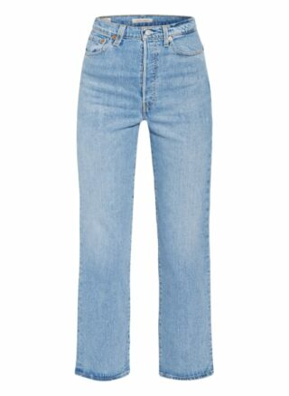 Levis Ribcage Straight Leg Jeans Damen, Blau