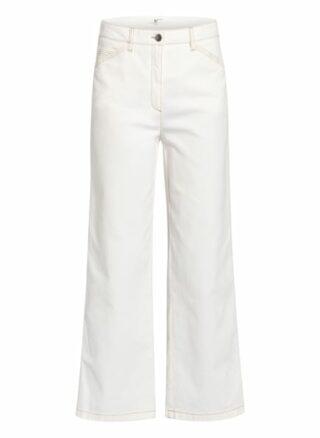 Luisa Cerano Jeans-Culotte, Weiß