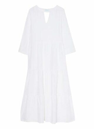 Mint & Mia Leinenkleid mit Lochspitze, Weiß
