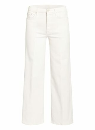 Mother Bootcut Jeans, Weiß