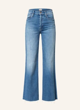Mother Flared Jeans The Tomcat Roller Fray, Blau