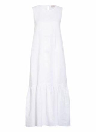 Mrs & Hugs Leinenkleid mit Volantbesatz, Weiß