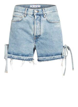 Off-White Jeans-Shorts, Blau