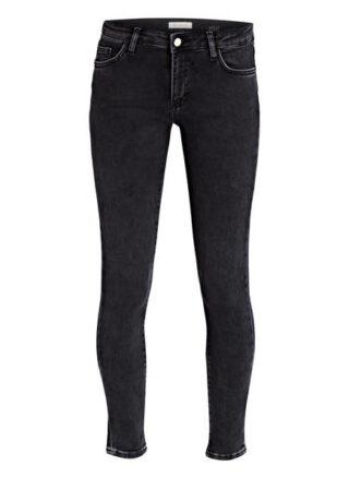 rich&royal Black Satin Skinny Jeans Damen, Schwarz