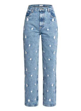 sandro Straight Leg Jeans Damen, Blau