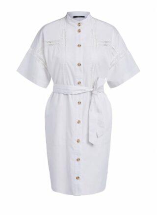 Set Kleid mit Crochet-Bändern, Weiß
