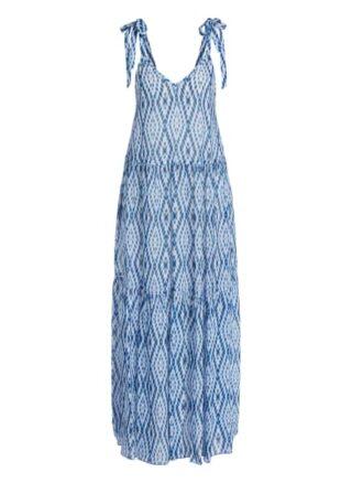 Set Kleid mit Tie-Dye Print, Weiß